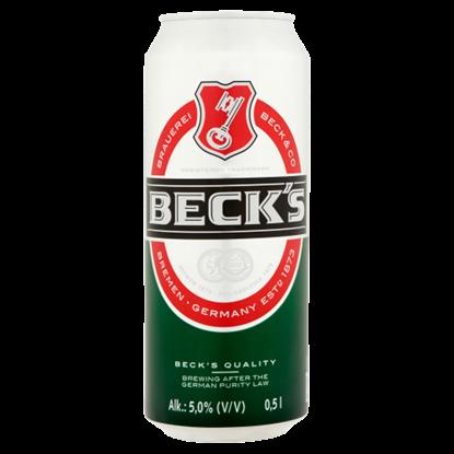 Kép Beck's minőségi világos sör 5% 0,5 l