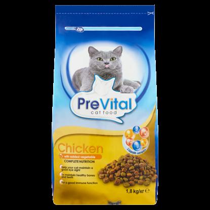 Kép PreVital teljes értékű száraz állateledel felnőtt macskák számára csirkével és zöldséggel 1,8 kg