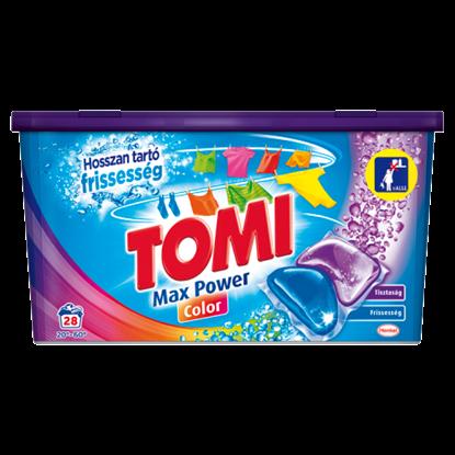 Kép Tomi Max Power Color kétkamrás mosókapszula gépi mosáshoz, színes ruhadarabokhoz 28 mosás 560 g