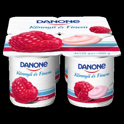Kép Danone málnaízű, élőflórás, zsírszegény joghurt 4 x 125 g