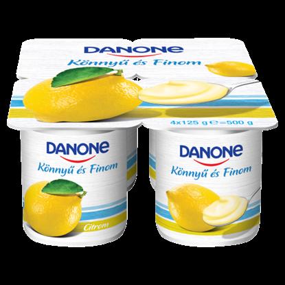 Kép Danone citromízű, élőflórás, zsírszegény joghurt 4 x 125 g