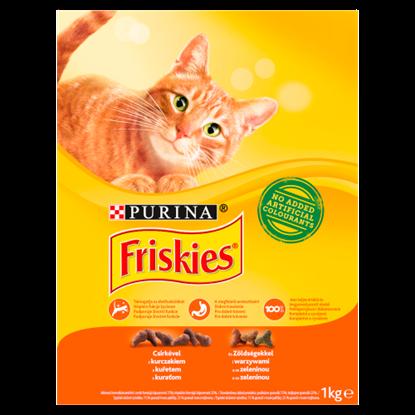 Kép Friskies teljes értékű állateledel felnőtt macskák számára csirkével és zöldségekkel 1 kg