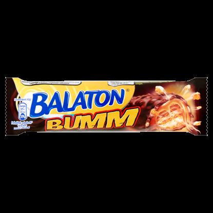 Kép Balaton Bumm kakaós tejmasszával mártott töltött ostyaszelet karamellel és búzapehellyel 42 g