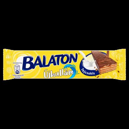 Kép Balaton Újhullám tejcsokoládéval mártott, kakaós krémmel töltött ostya 33 g