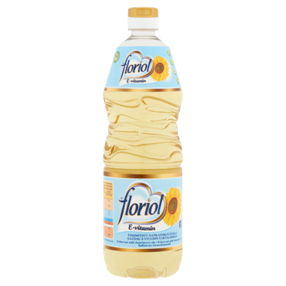 Kép Floriol finomított napraforgó-étolaj gazdag E-vitamin-tartalommal 1 l