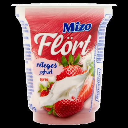 Kép Mizo Flört epres réteges joghurt 150 g