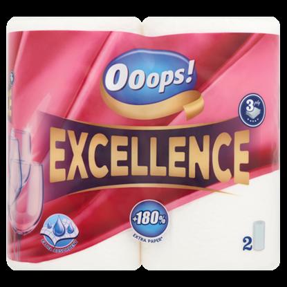 Kép Ooops! Excellence háztartási papírtörlő 3 rétegű 2 tekercs