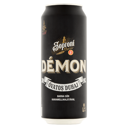 Kép Soproni Óvatos Duhaj Démon minőségi barna sör 5,2% 0,5 l doboz