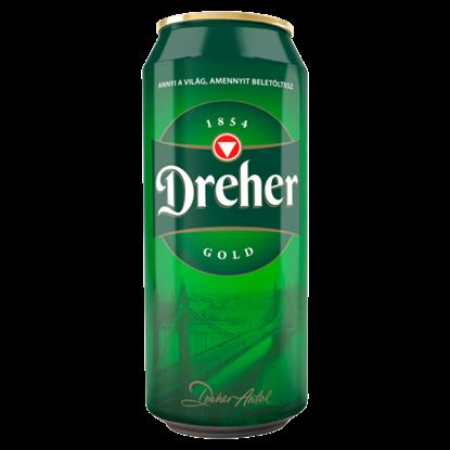 Kép Dreher Gold minőségi világos sör 5% 0,5 l