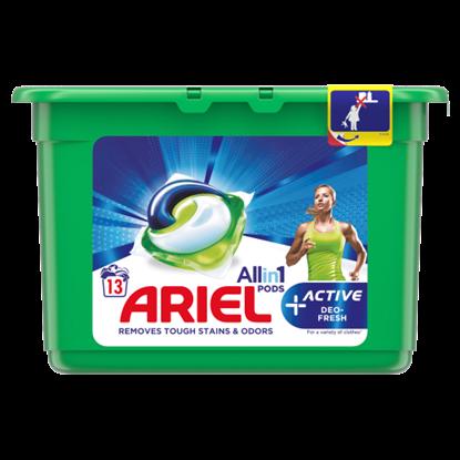 Kép Ariel Allin1 PODS +Active Odor Defense Mosókapszula 13 Mosáshoz