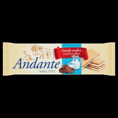 Kép Andante kakaós-csokoládés és tejes krémmel töltött kakaós ostyák 130 g