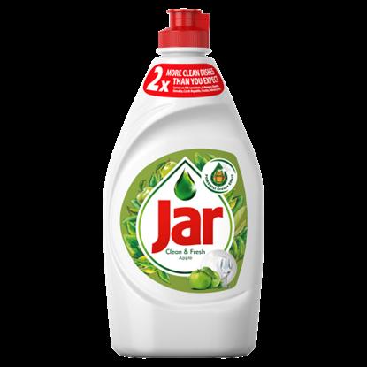 Kép Jar Clean & Fresh Mosogatószer Alma Illatban, Gazdag Formulával A Ragyogóan Tiszta Edényekért 450 ml