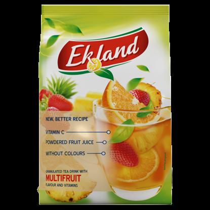 Kép Ekland azonnal oldódó vegyesgyümölcs ízű tea üdítőitalpor vitaminokkal 300 g