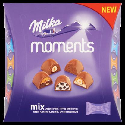 Kép Milka Moments alpesi tejcsokoládé válogatás 97 g