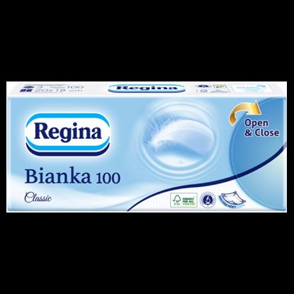 Kép Regina Bianka 100 Classic papír zsebkendő 3 rétegű 100 db