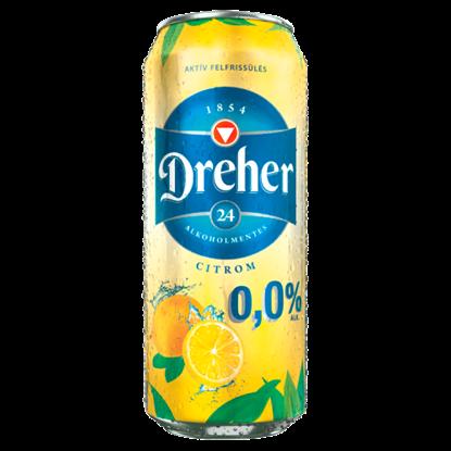 Kép Dreher 24 citrom ízű ital és alkoholmentes világos sör keveréke 0,5 l