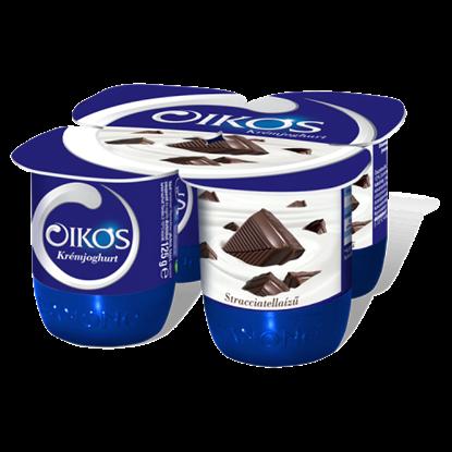 Kép Danone Oikos Görög stracciatellaízű élőflórás krémjoghurt 4 x 125 g