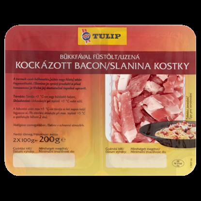 Kép Tulip bükkfával füstölt kockázott bacon 2 x 100 g (200 g)