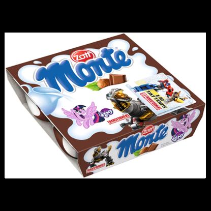 Kép Zott Monte csokoládés, mogyorós tejdesszert 4 x 55 g (220 g)