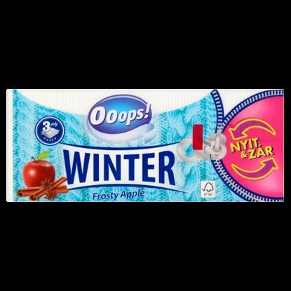 Kép Ooops! Winter Frosty Apple papír zsebkendő 3 rétegű 90 db